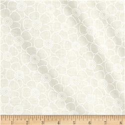 "108"" Contempo Quilt Back Daisy White/Tint"