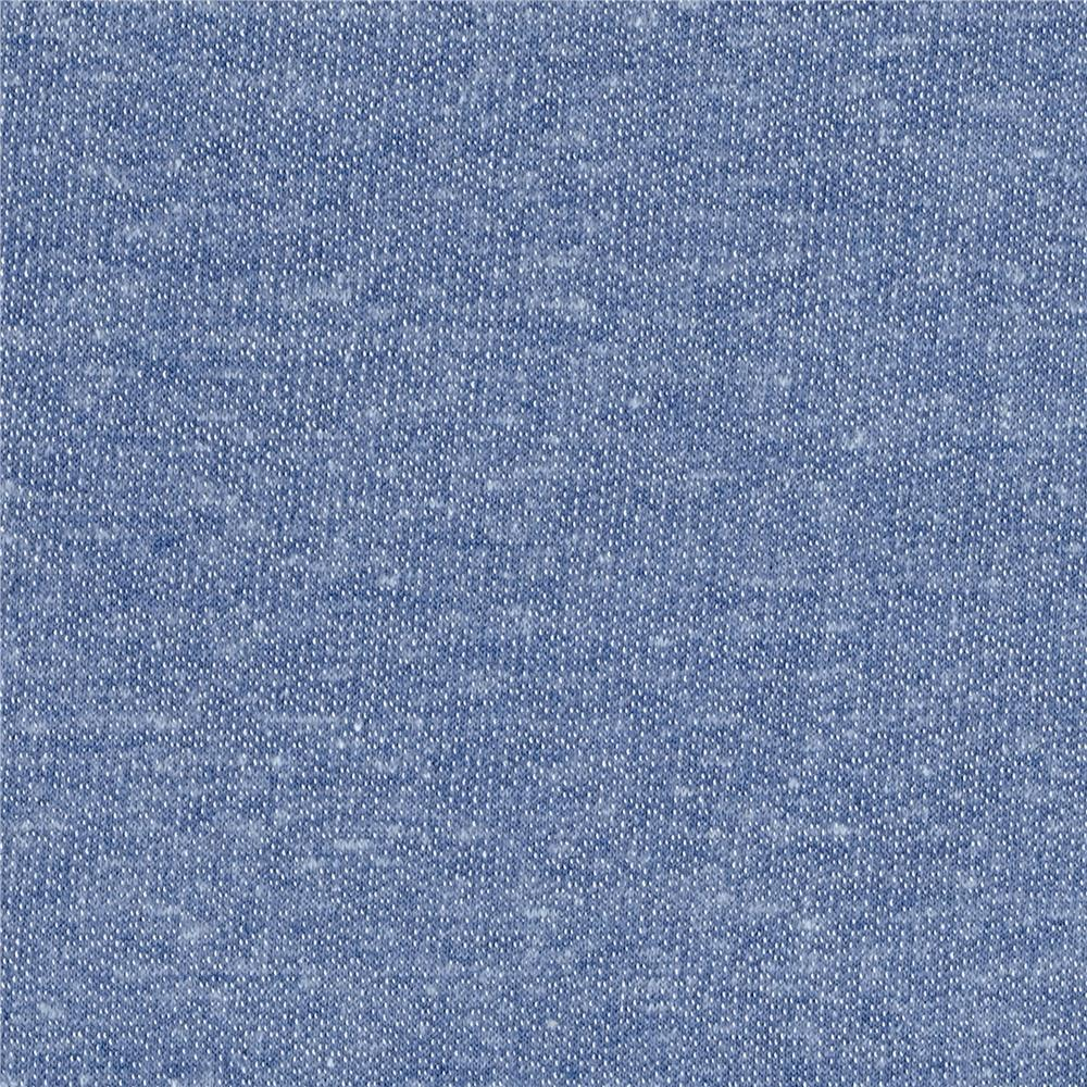 Tri blend french terry knit chambray discount designer for Chambray fabric