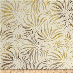 "106"" Wide Batavian Batiks Quilt Backing Ylang Ylang Ivory/Tan"