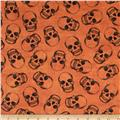 Timeless Treasures Wicked Skulls Orange