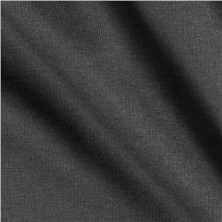 Stretch Rayon Bamboo French Terry Knit Smoky Charcoal