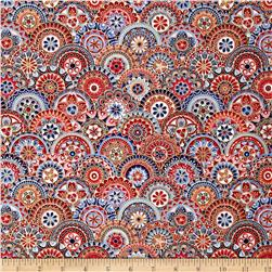Butterfly Fandango Metallic Fandango Medallion Red/Blue
