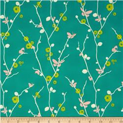 Art Gallery Rapture Butterfly Bliss Teal Fabric