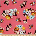 Disney Tsum Tsum Group Toss With Logo Pink