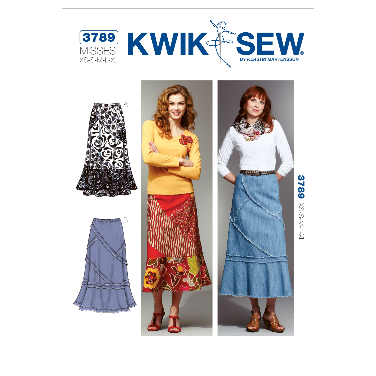 Kwik Sew Misses Patchy Skirts Pattern KP-3789