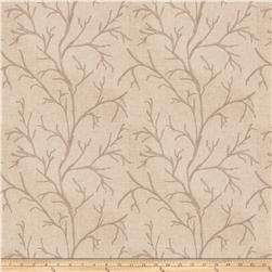 Fabricut Catla Branch Embroidered Parchment