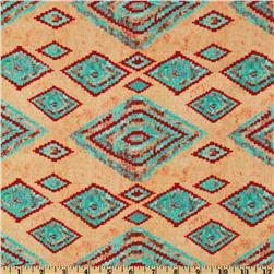 Round Up Indian Blanket Taupe Fabric