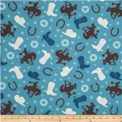 Riley Blake Round Up Flannel Main Blue