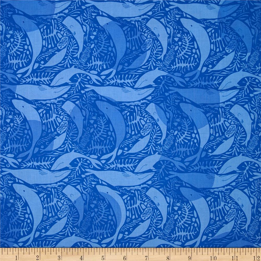 Natural History Whales Royal Blue
