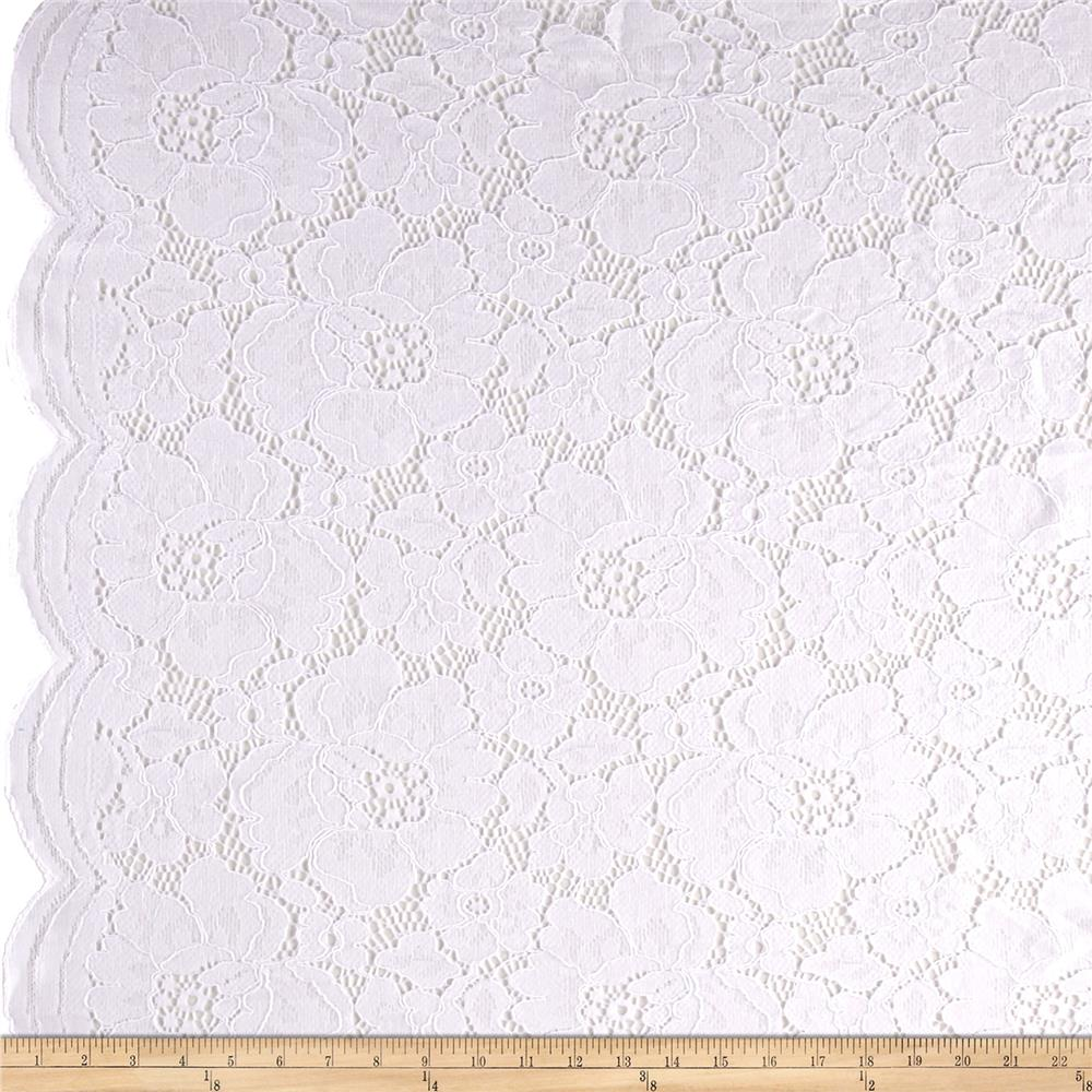 Telio Sadie Lace White Fabric