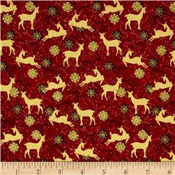 Peace on Earth Reindeer Red
