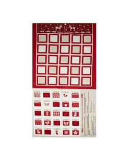 When I Met Santa's Reindeer Advent Calendar 24 In. Panel Red
