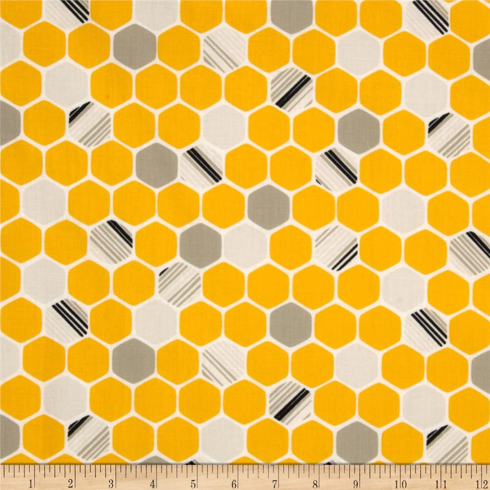 iHaus Organic Hexagons Yellow/Grey