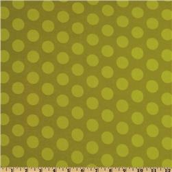 Mischief Flannel Cookie Dots Green