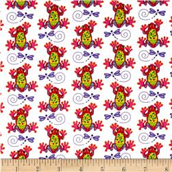 Calypso Frogs Frogs/Dragonflies Multi Fabric