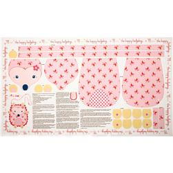 Riley Blake Wildflower Meadow Panel Pink Fabric