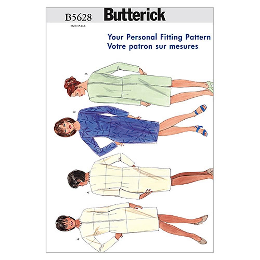 Butterick Women's Fitting Shell Pattern B5628 Size 16W