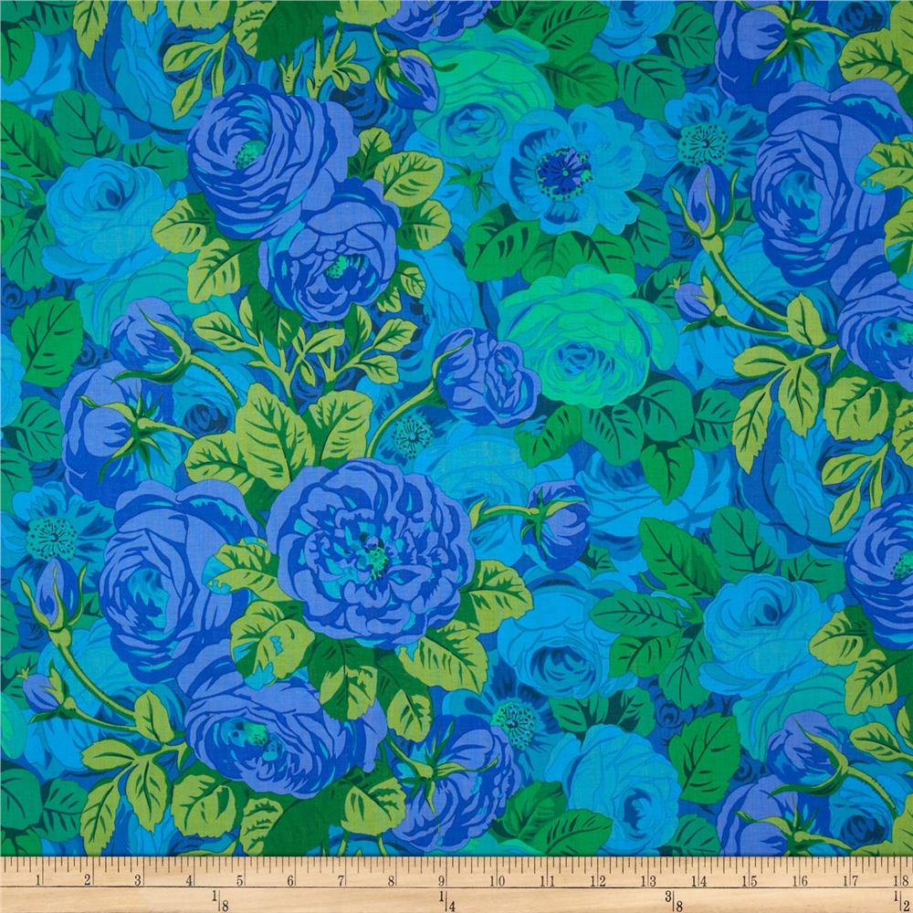Kaffe Fassett Collective Rambling Rose Blue