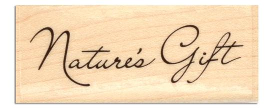 Inkadinkado Wood-Mounted Rubber Stamp Natures Gift