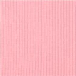 Cotton Rib Knit Baby Pink