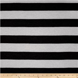 Jersey Knit Stripe White/Grey