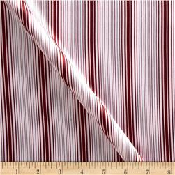 Charmeuse Satin Stripes Pink/Red Fabric