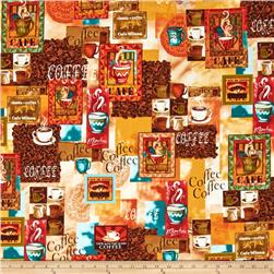 Kanvas Jumping Java Coffee Patchwork Multi
