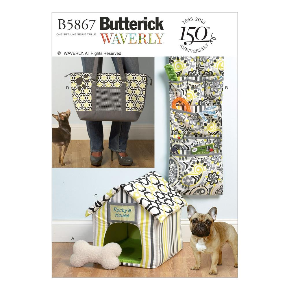 Butterick Toy, Organizer, House, Mat and Carry Bag Pattern B5867 Size OSZ