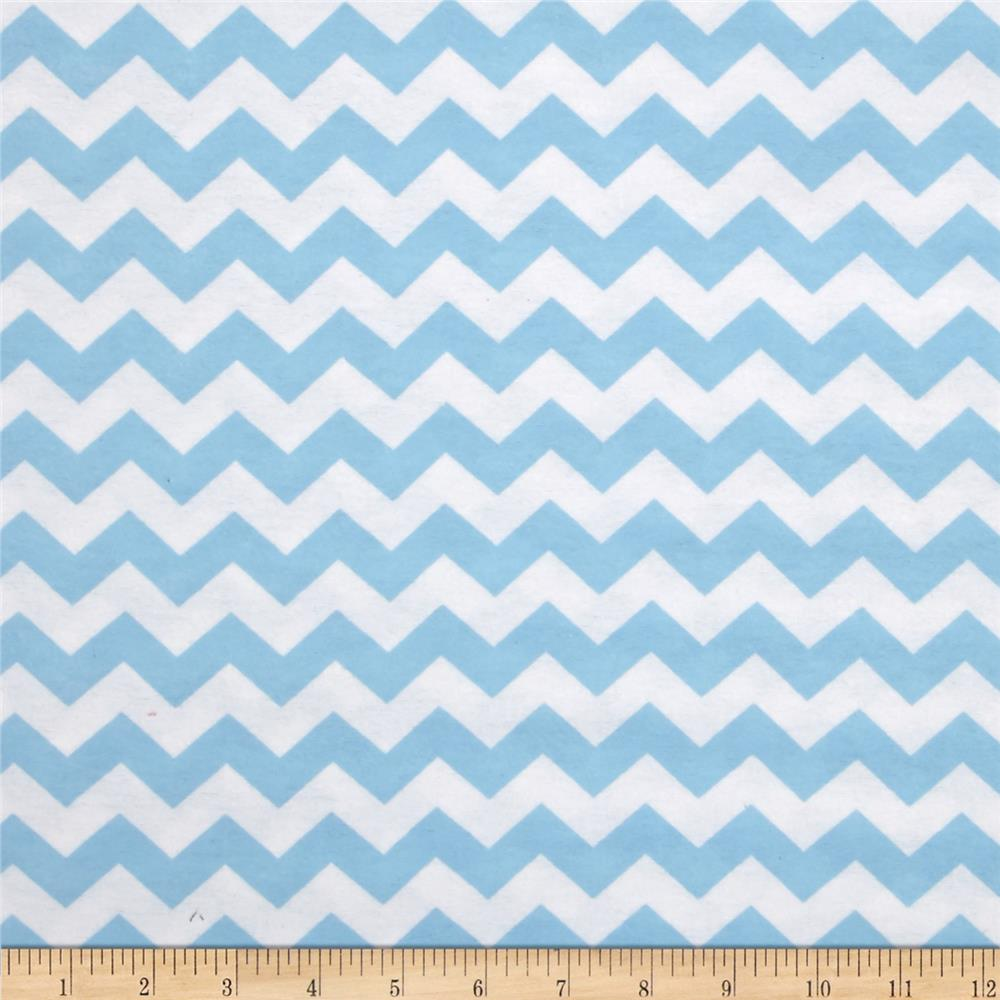 Flannelland Simply Chevron Blue
