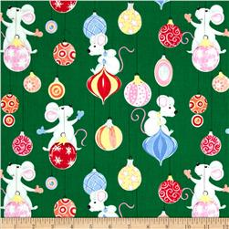 Susybee Christmas Mice/Ornaments Green
