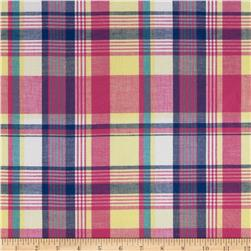 Yarn Dyed Cotton Shirting Plaid Pink/Blue