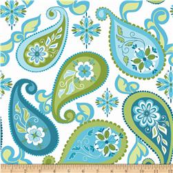 Riley Blake Splendor Large Paisley Blue
