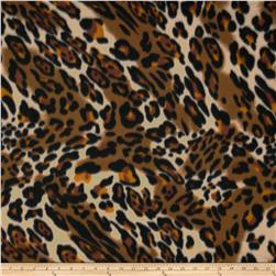 Fleece Cheetah Brown/Black
