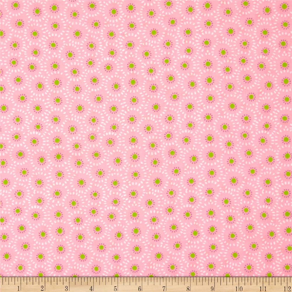 Fabric Freedom Blossom Flower Dot Pink