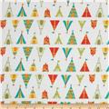 Happy Camper Flannel Teepees + Tents White