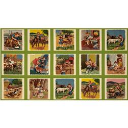 Moda Pot Luck Farmyard Panel Sweet Pea
