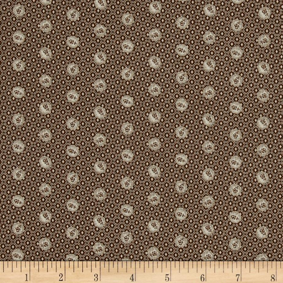 Mrs. March's Collection in Antique Small Ditsy Floral Brown/Cream