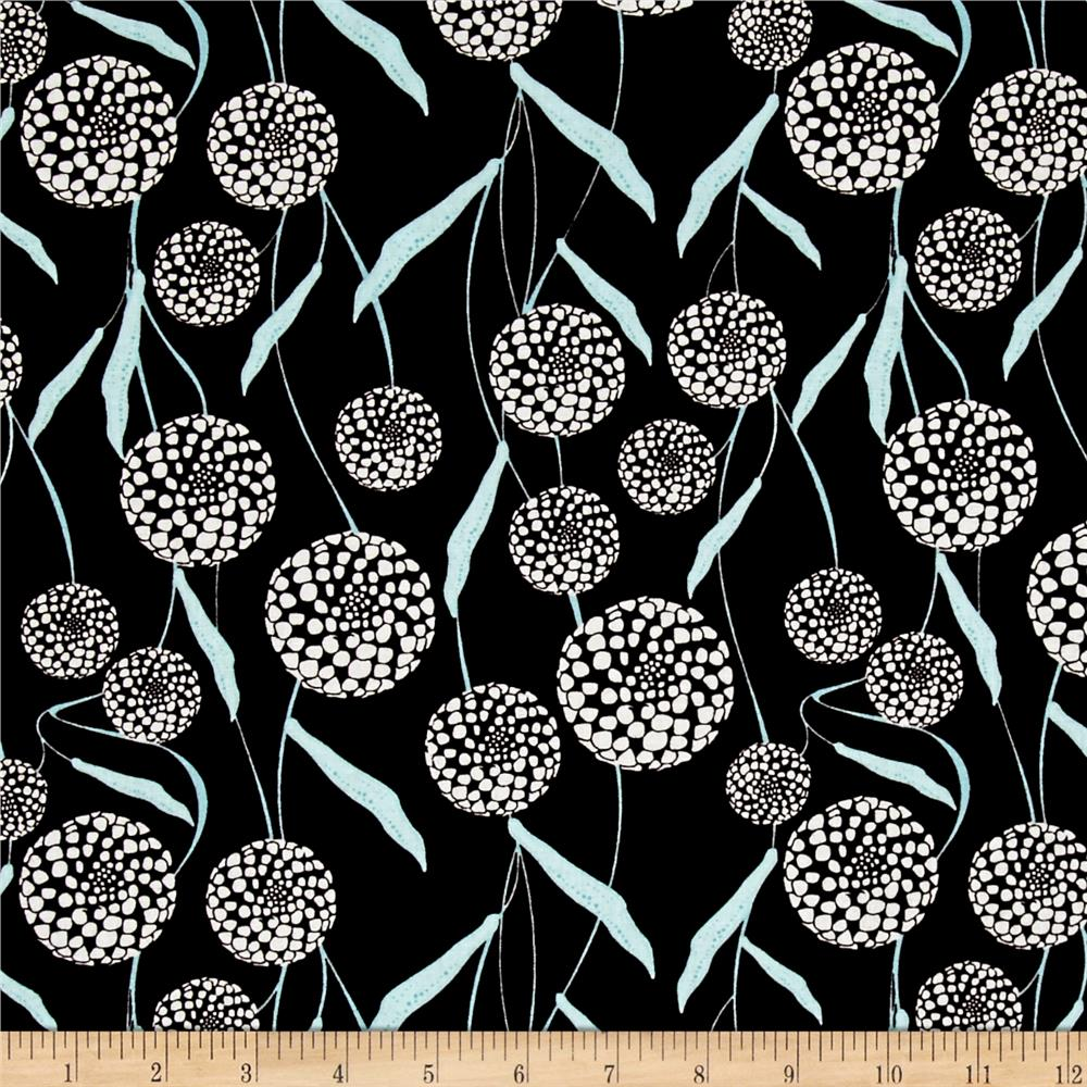 Mod About You Queen Anne's Lace Black/Teal Fabric