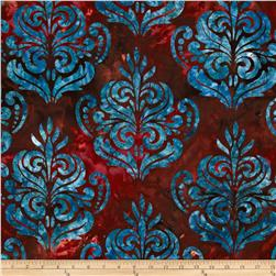 Artisan Batik Noel 2 Holiday Damask Holiday Burgundy