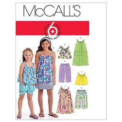 McCall's Children's/Girls' Tops, Dresses, Shorts and Pants Pattern M5797 Size CCE