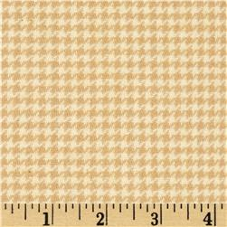 Cozy Yarn Dye Flannel Mini Houndstooth Cream