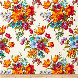 Penny Rose Olivia Large Floral Cream Fabric