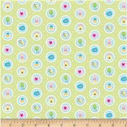 Riley Blake Sweet Home Spots Green Fabric
