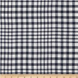 Designer Flannel Check White/Slate Navy