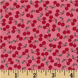 Timeless Treasures Mini Cherries Hot Pink