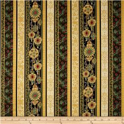 Peacock Ornamental Metallic Peacock Stripe Antique/Gold