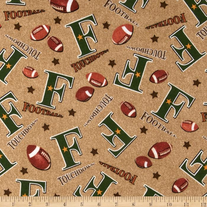 Flannel Football Cocoa Brown