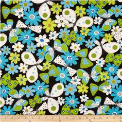 Kanvas What a Whirl Butterfly Black Fabric