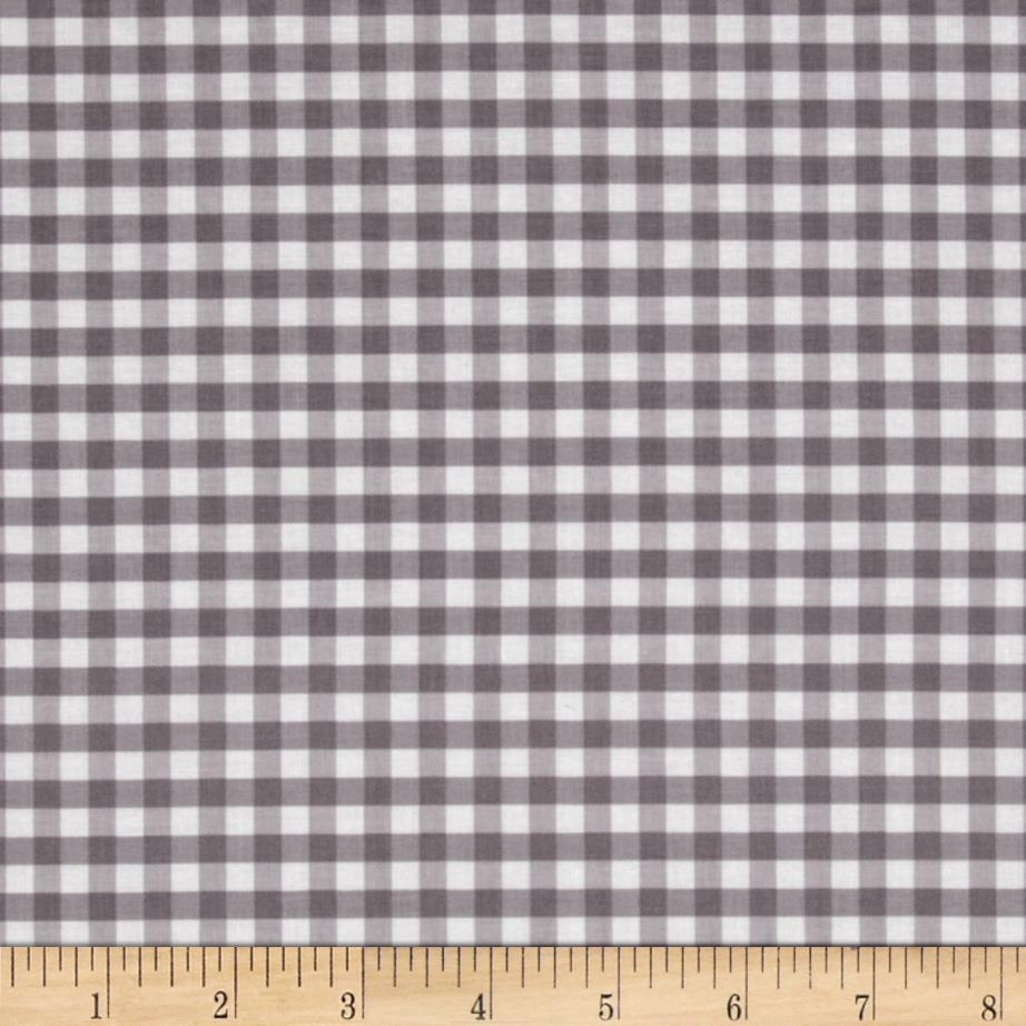 Riley Blake Medium Gingham Grey