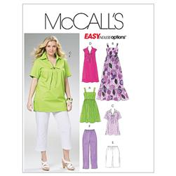 McCall's Women's Tops Dresses Shorts and Capri Pants